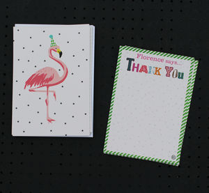 12 Child's Thank You Cards - winter sale
