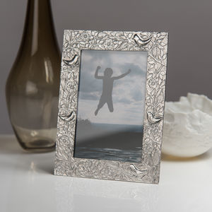 Bird Cast Pewter Photo Frame