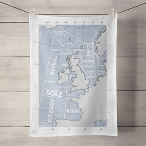 Shipping Forecast Regions Tea Towel