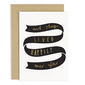 Happily Ever After Card - wedding cards & wrap