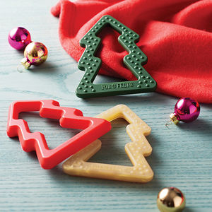 Silicone Christmas Tree Teether - baby shower gifts & ideas