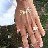 Bridal Party Gold Temporary Tattoo - health & beauty