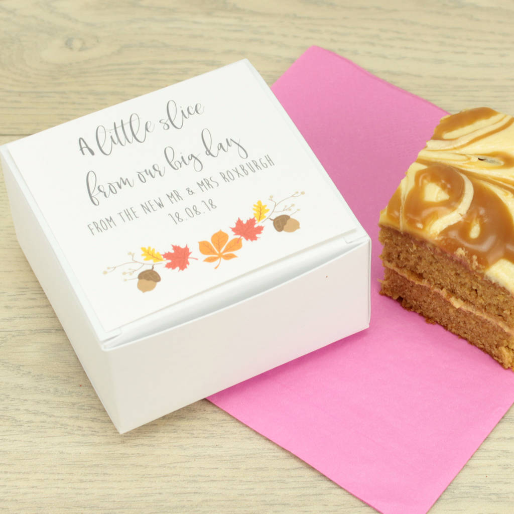 Wedding Box: Personalised Autumn Wedding Cake Box By Dreams To Reality