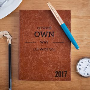 Go Your Own Way, Personalised 2017 Diary, Leather