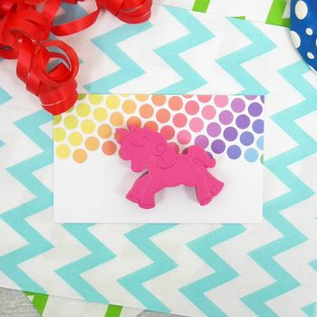 Unicorn Crayon Party Favour