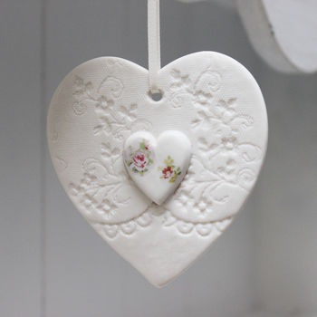 Rose Heart Hanging Decoration