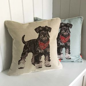 Schnauzer Feature Cushion - cushions