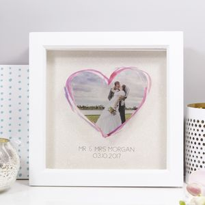Personalised Photo Wedding Glass Photo Frame - dates & special occasions