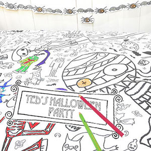 Colour In Tablecloth Halloween *Personalise It Option - party decorations