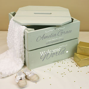 Personalised Christening Crate