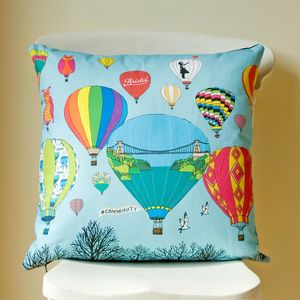 Bristol Balloons Illustrated Cushion Cover - children's cushions