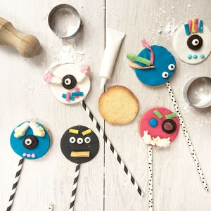 Scary Monster Biscuit Pop Baking Kit - gifts for children