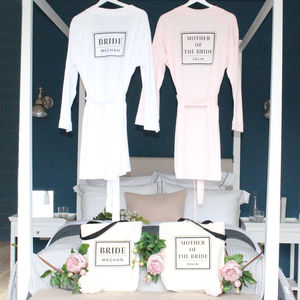 'Bride' And 'Mother Of The Bride' Robe And Tote Set