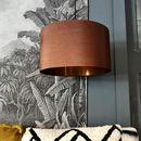 Gold Or Copper Lined Lampshade In Tobacco