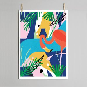 Flamingo Print - modern & abstract