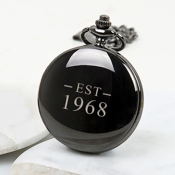 'Est' Year Personalised Pocket Watch