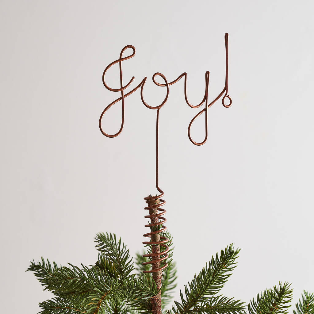 Christmas Tree Topper.Joy Wire Christmas Tree Topper