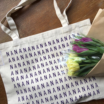 Nana Screenprinted Shopping Bag