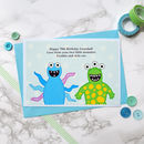 'Little Monsters' Personalised Birthday Card