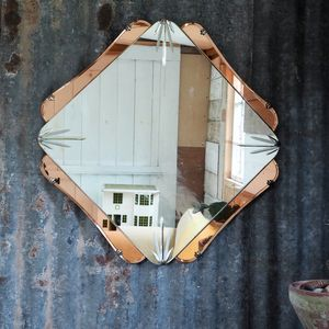 Art Deco Mirror/ Peach Mirror/ Antique Mirror - mirrors