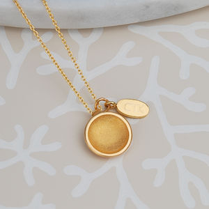 Contemporary Etched Satin Dome Necklace