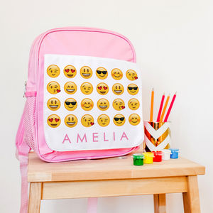 Children's Personalised Emoji Rucksack