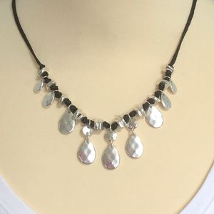 Silver Plated Beaded Necklace ~ Boxed And Gift Wrapped - necklaces & pendants
