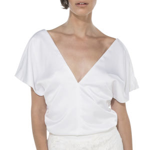 Silk Wedding Top / Kimono Top - blouses & shirts