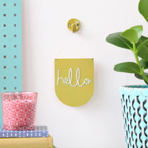 Hanging Banner Craft Kit Embroidery Board 'Hello'