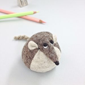 Handmade Henry The Harvest Mouse Paperweight - desk accessories