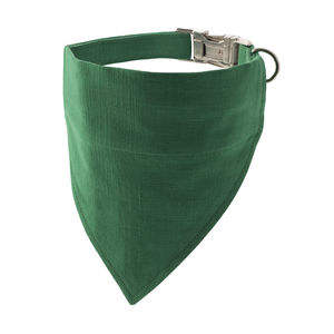 Bold Green Bandana Dog Collar - dogs
