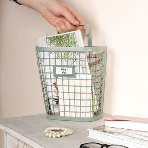 Industrial Wire Wall Storage Basket