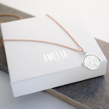 Personalised Love Spinner Necklace