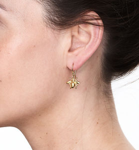 Bee Drop Earrings - earrings