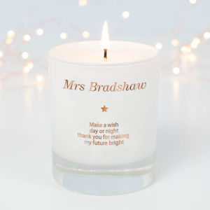 Personalised Make A Wish For A Teacher Candle - gifts for teachers