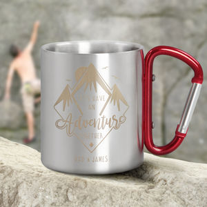Personalised Adventure Carabiner Mug