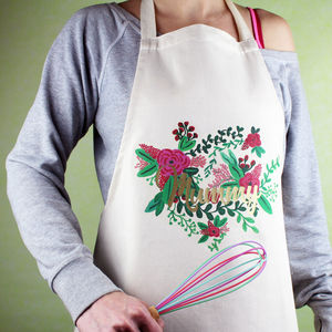 Floral Personalised Apron