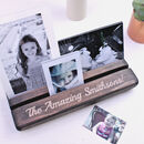 Personalised Carved Wooden Photograph Holder