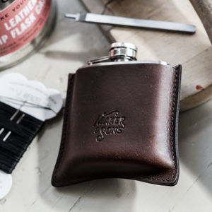 Diy Leather Hip Flask And Case Kit - hip flasks