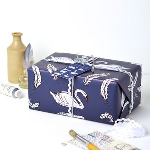 Swan Wrapping Paper Gift Set - winter sale