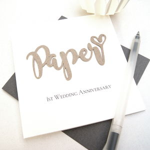 Paper 1st Wedding Anniversary Card