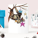 'Festive Fiesta' Sloth Christmas Card