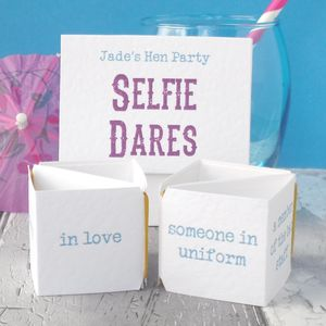 Personalised Pop Up Hen Do Selfie Dares