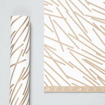 Patterned Paper – Lines Print In Gold
