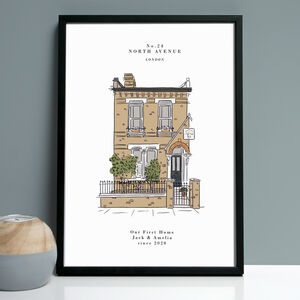 Personalised Colour House Portrait Print
