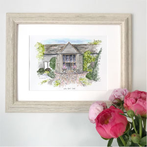Personalised House Portrait Hand Illustrated - paintings