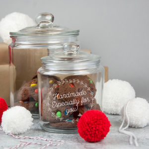 Personalised Christmas Jar - tins, jars & bottles