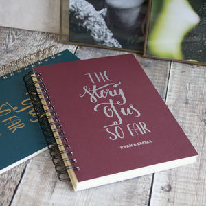 Personalised The Story Of Us So Far Memory Book - gifts for couples
