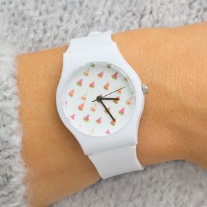 Minimal White Ladies Watch - watches