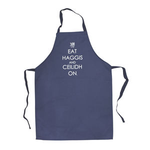 'Eat Haggis And Ceilidh On' Apron - aprons